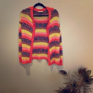 Amazing Mustard Seed Striped Cardigan, M